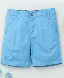 Torch & Tiny Casual Shorts With Front Pockets - Blue