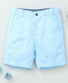 Torch & Tiny Casual Shorts With Front Pockets - Sky Blue