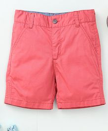 Torch & Tiny Casual Shorts With Front Pockets - Red
