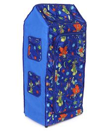 Lovely Novelty Multipurpose Almirah Joker Print - Blue
