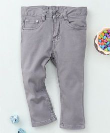 Torch & Tiny Full Length Pant With Front Pockets - Light Grey