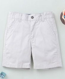 Torch & Tiny Casual Shorts With Front Pockets - Light Grey