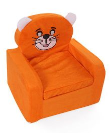 Lovely Smart Kids Sofa Kitty Embroidery - Orange