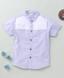 Torch & Tiny Stylish Button Down Shirt - White & Grey