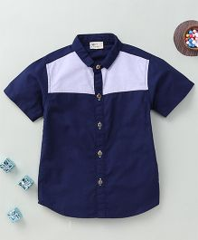 Torch & Tiny Stylish Button Down Shirt - Blue & Grey