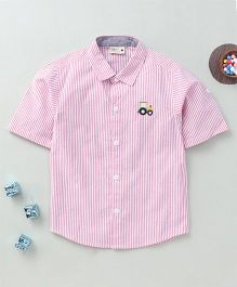 Torch & Tiny Button Down Shirt - Pink