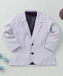 Torch & Tiny Stripe Print Suit - Grey