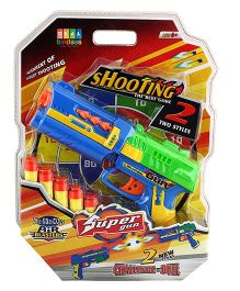 DealBindaas Toy Gun Foam Shoot Blister Pack - Multicolor