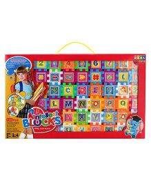 DealBindaas Intellect Blocks Printed Alpha Numbers Pictures 152 Pieces - Multicolor