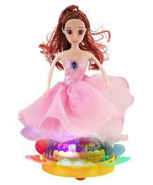 DealBindaas Dancing Queen Doll Light Projection - Pink