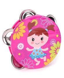 Sunny Tambourine Dafli Rattle - Pink