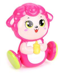Sunny Shaking Bell Zodiac Rattle - Pink