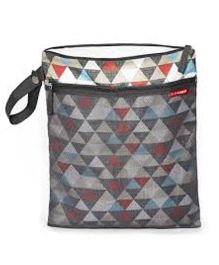 Skiphop Grab & Go Wet Dry Bag Triangles Print - Multi Color