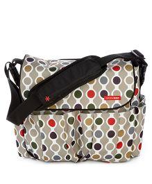Skiphop Dash Deluxe Diaper Bag Wave Dot Print - Mulit Color