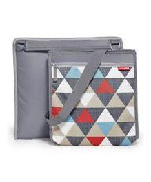 Skiphop Central Park Outdoor Blanket And Cooler Bag Triangles Print - Multi Color