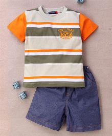 Great Babies Great Sport Applique T-Shirt & Shorts Set  - Orange