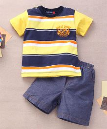 Great Babies Great Sport Applique T-Shirt & Shorts Set  - Yellow