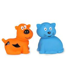 Giggles Animal Shaped Squeaky Bath Toys Pack of 2 - Yellow Blue