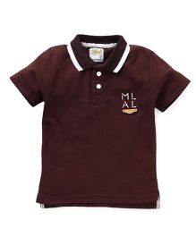 Kiddy Mall Polo Neck T-Shirt - Brown