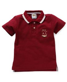 Kiddy Mall Polo Neck T-Shirt - Maroon
