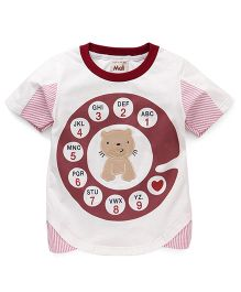 Kiddy Mall A To Z Cat Print T-Shirt - Maroon