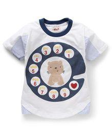 Kiddy Mall A To Z Cat Print T-Shirt - Dark Grey