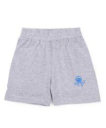 Babyhug Shorts Octopus Print - Light Grey