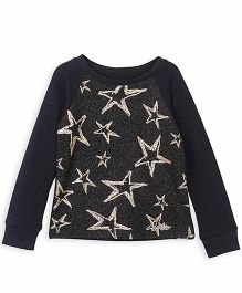 Barbie Full Sleeves Sweatshirt Star Design - Black