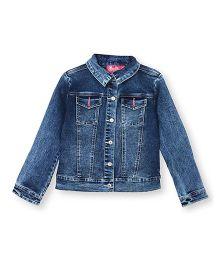 Barbie Full Sleeves Denim Jacket - Blue