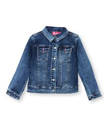 Barbie Full Sleeves Denim Jacket - Blue