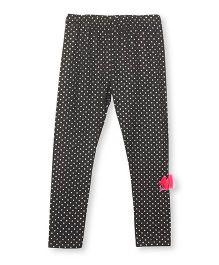 Barbie Full Length Leggings Bow Applique -  Dark Grey