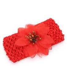 Babyhug Flower Motif Headband - Red