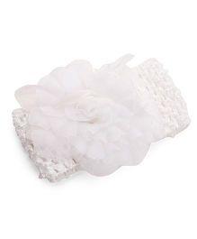 Babyhug Crochet Flower Motif Headband - White
