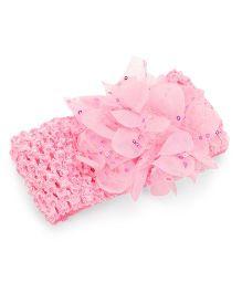 Babyhug Crochet Flower Motif Headband - Pink