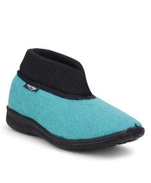 Footfun Formal Shoes - Sea Green & Black