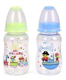 Mee Mee Feeding Bottle Pack Of 2 Green Blue - 150 ml
