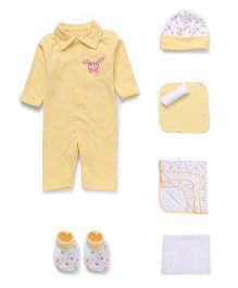 Mee Mee Clothing Gift Set Pack of 7 - White Yellow