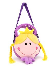 Wow Kiddos Doll With Crown Side Sling Bag - Purple