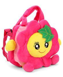 Wow Kiddos Sunflower Side Sling Bag - Light & Dark Pink