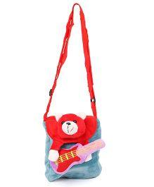 Wow Kiddos Guitar Teddy Side Sling Bag - Blue