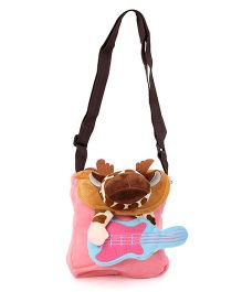 Wow Kiddos Guitar Side Sling Bag - Light Pink
