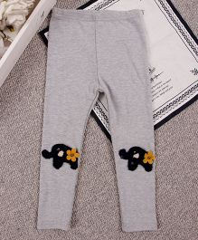 Aww Hunnie Elephant Patch Work - Grey