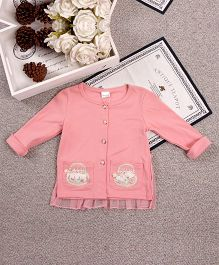 Aww Hunnie Embordery Pocket Front Open Top - Pink