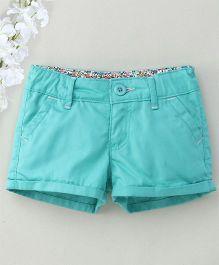 Hallo Heidi Stylish Shorts - Aqua Blue