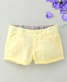 Hallo Heidi Stylish Shorts - Yellow