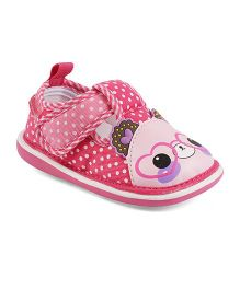 Kittens Shoes Sandals Teddy Applique - Pink