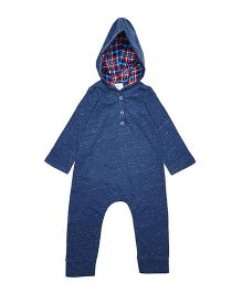 Orgaknit Organic Cotton Henry's Hoodie Romper - Blue