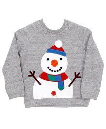 Bella Moda Snowman Pullover - Grey