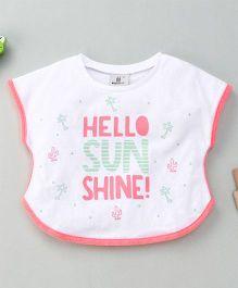 Hallo Hiedi Sun Shine Print T-Shirt -White