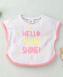 Hallo Hiedi Sun Shine Print T-Shirt - Beige